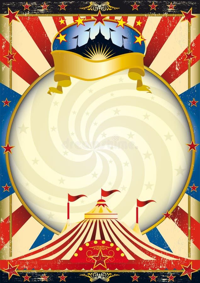 stor cirkusöverkant royaltyfri illustrationer