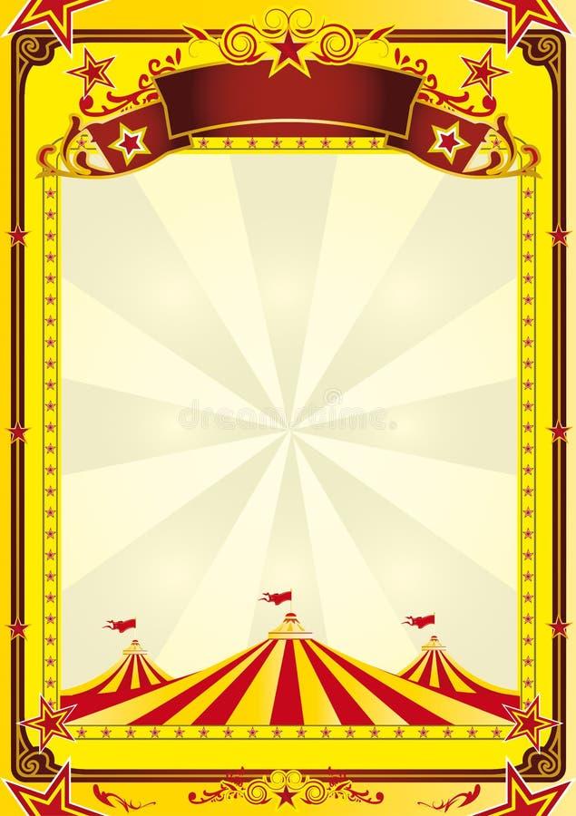 stor cirkusreklambladöverkant vektor illustrationer