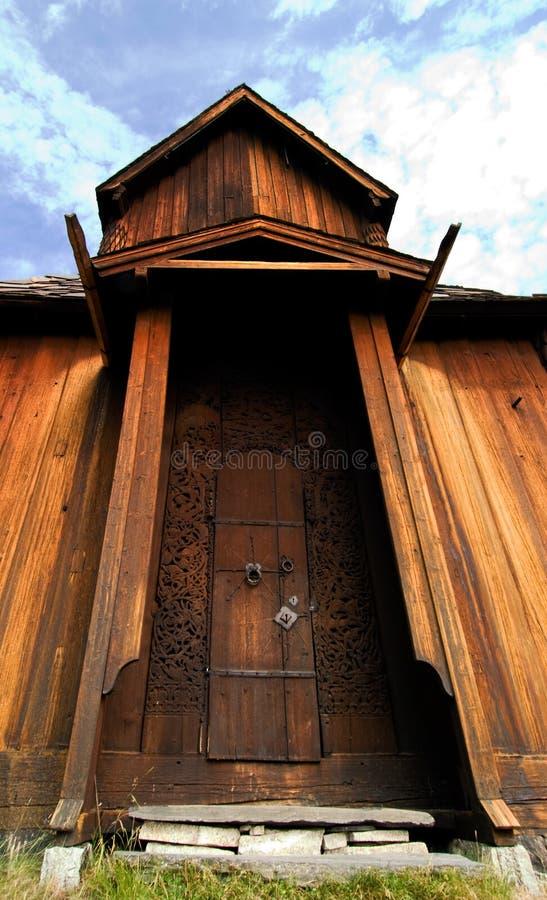 stor dörr arkivbild