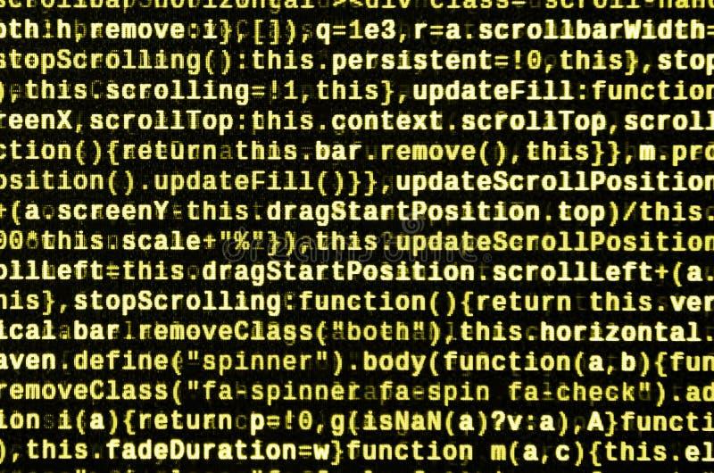 Stor data och internet av sakertrenden It-specialistarbetsplats WebsiteHTML-kod på bärbar datorskärmen royaltyfria foton