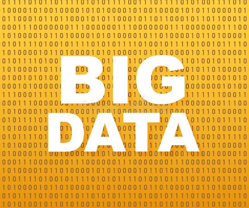 Stor dataanalys av information Vetenskap och teknikbakgrund konstruktionsillustrationmateriel under vektor royaltyfri illustrationer