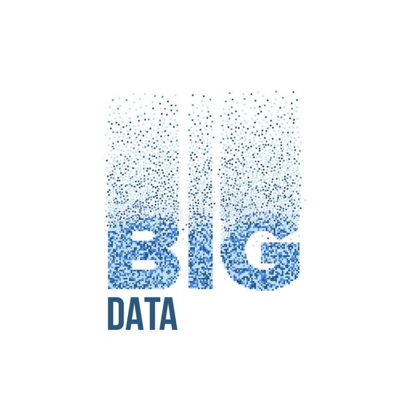 STOR DATAanalys för inskrift av information vektor illustrationer