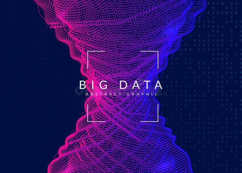 Stor databakgrund Teknologi för visualization som är konstgjord in vektor illustrationer