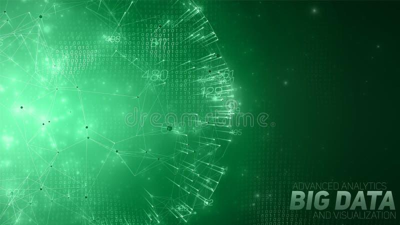 Stor datacirkulärvisualization Infographic futuristiskt utrymme Estetisk design för information Visuell datakomplexitet vektor illustrationer
