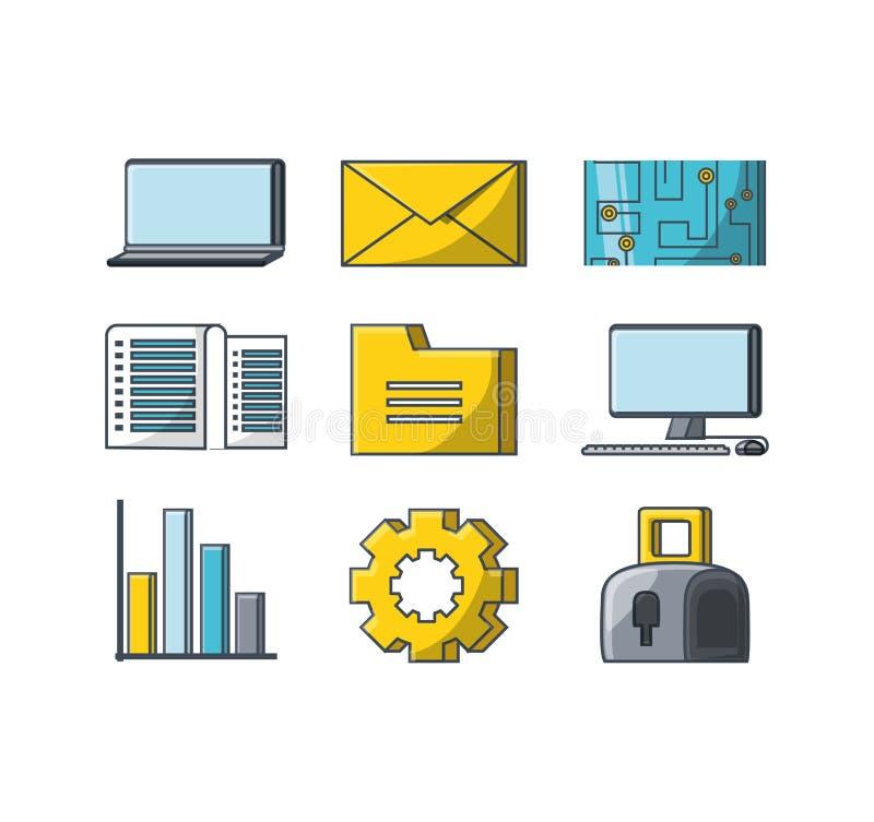 Stor datadesign stock illustrationer