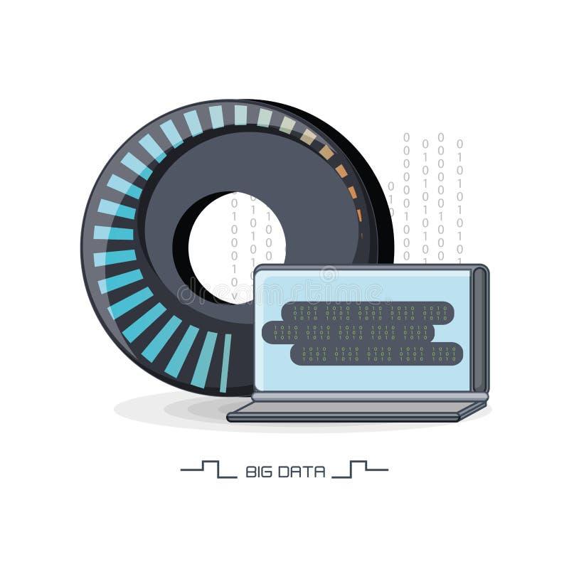 Stor datadesign royaltyfri illustrationer