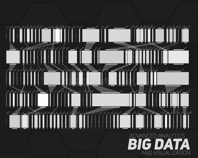 Stor datagråtonvisualization Futuristiskt infographic Estetisk design för information Visuell datakomplexitet vektor illustrationer