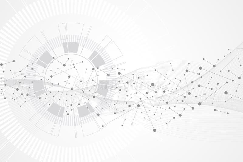 Stor datavisualization Begrepp för konstgjord intelligens och för lära för maskin Abstrakt bakgrundskommunikation för diagram royaltyfri illustrationer