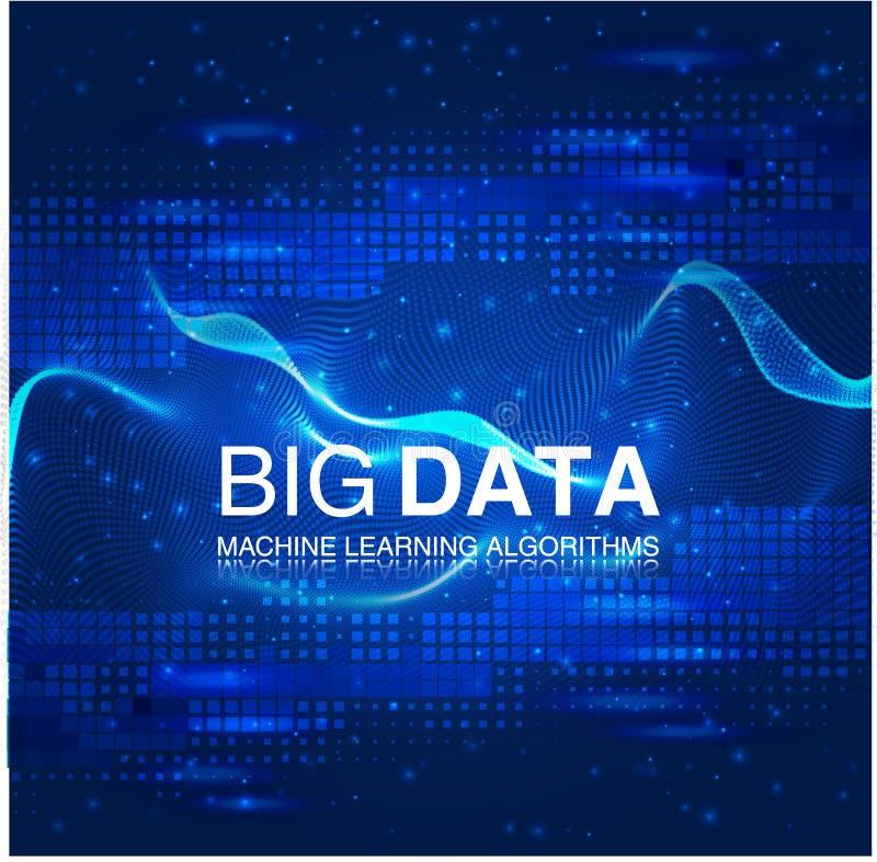 Stor datavisualization Futuristiskt infographic Estetisk design för information Visuell datakomplexitet vektor illustrationer