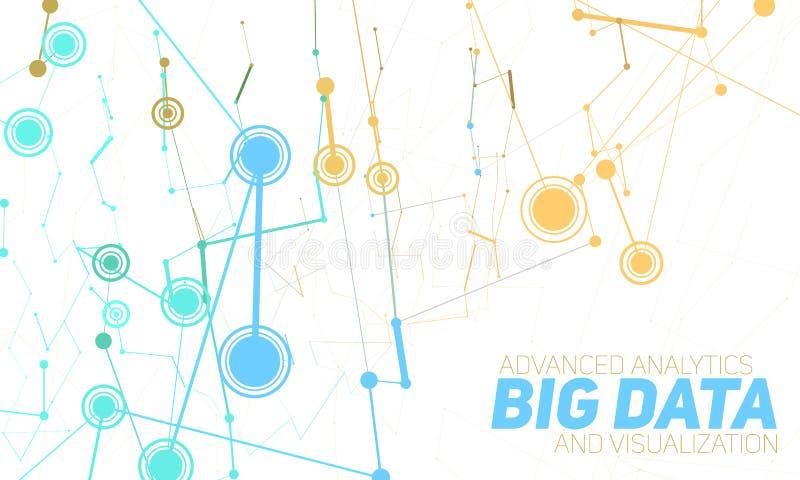 Stor datavisualization Futuristiskt infographic Estetisk design för information Visuell datakomplexitet stock illustrationer