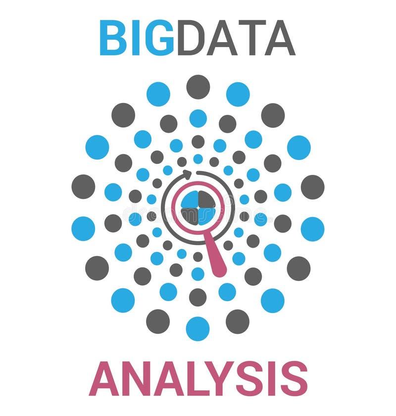 Stor datavisualization i plan vektorstil royaltyfri illustrationer