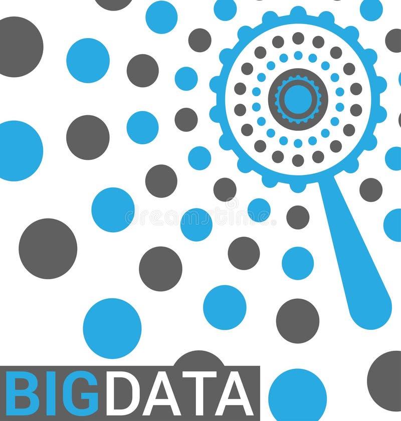Stor datavisualization i plan vektorstil stock illustrationer