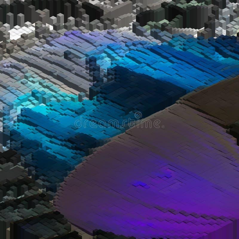 Stor datavisualization Konstgjord intelligens, infographic kryptografi, begrepp för kvantberäkning Teknologivektor vektor illustrationer