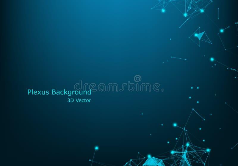 Stor datavisualizationbakgrund Modern futuristisk faktisk abstrakt bakgrund Vetenskapsnätverksmodell, förbindande linjer och royaltyfri illustrationer