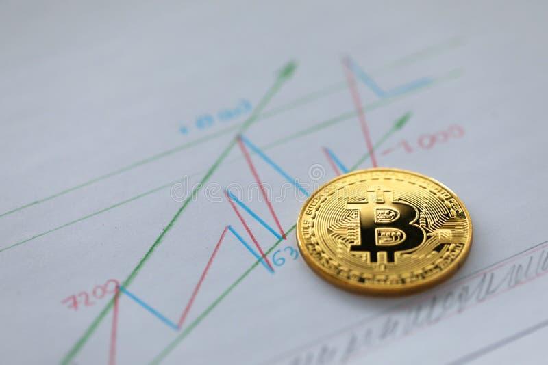 Stor design för Bitcoin diagramaffär för några avsikter arkivfoton