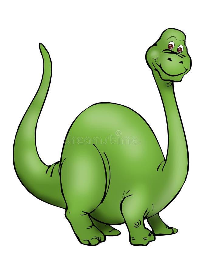 stor dinosaurgreen royaltyfri illustrationer