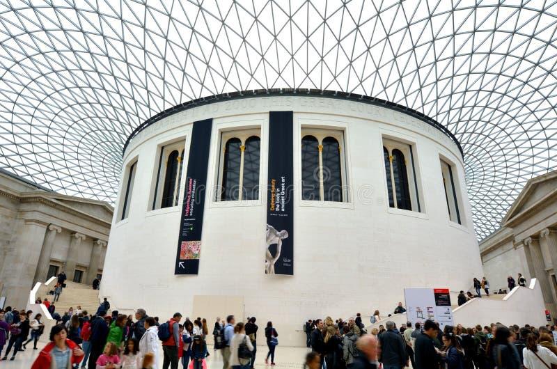 Stor domstol för drottning Elizabeth II av av British Museum Lond arkivbild