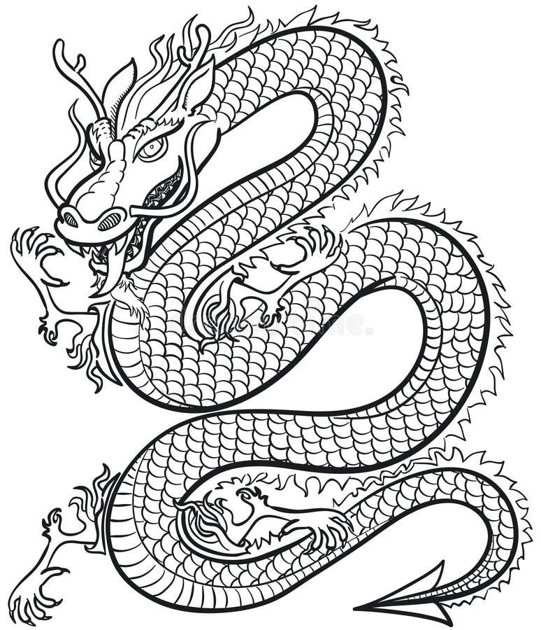 stor drake royaltyfri illustrationer