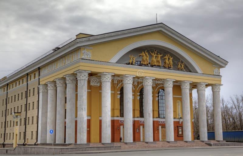 Stor dramatheatre i Petrozavodsk. arkivbilder