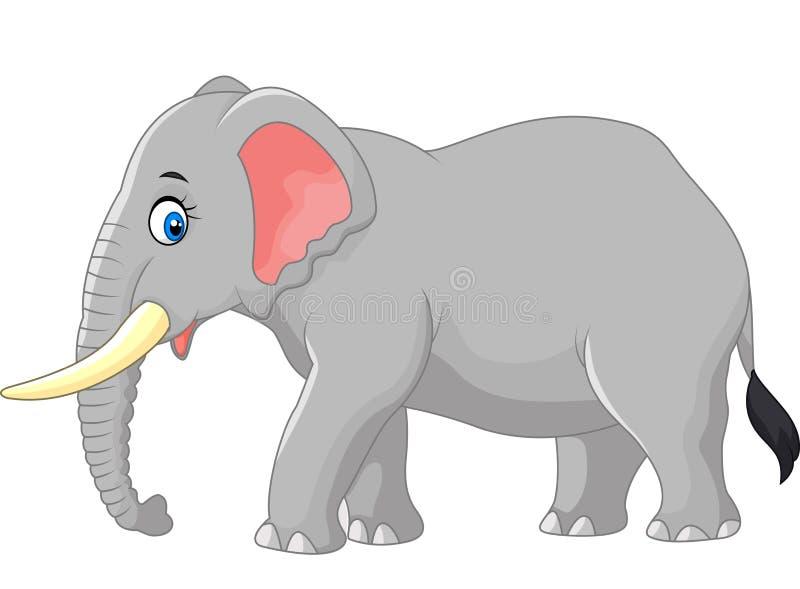 Stor elefant för tecknad film vektor illustrationer