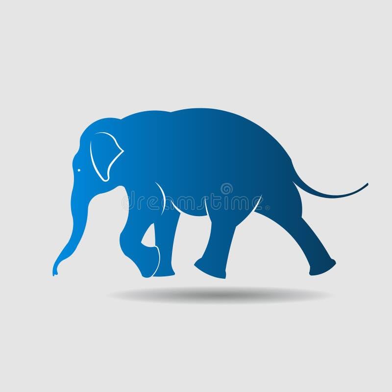 Stor elefant, i att gå rörelse. royaltyfri illustrationer