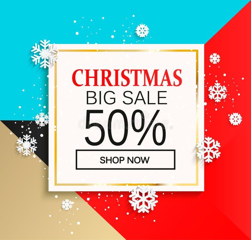 Stor försäljning för jul royaltyfri illustrationer