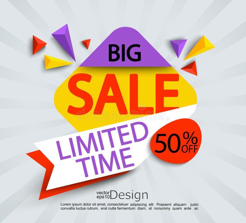 Stor försäljning - inskränkt tidbaner stock illustrationer