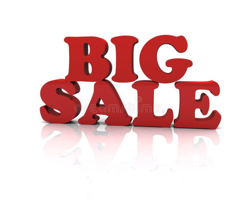 Stor försäljningshändelse stock illustrationer