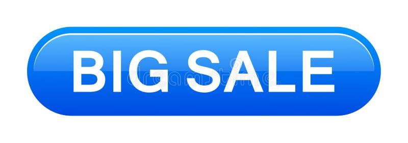 Stor försäljningsknapp royaltyfri illustrationer