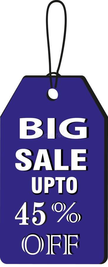 Stor försäljningsuptp 45% av symbol för knapp för Collorfull modelletikett avbildar stock illustrationer