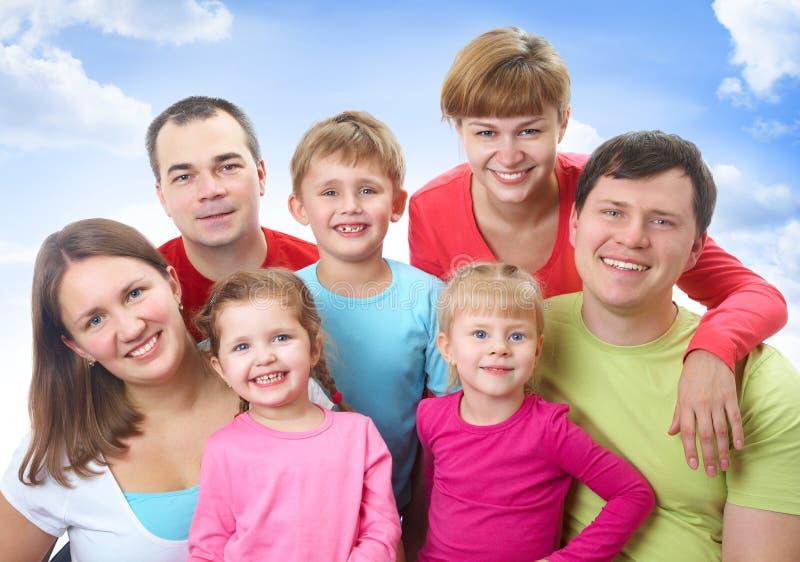 Stor familj royaltyfria foton