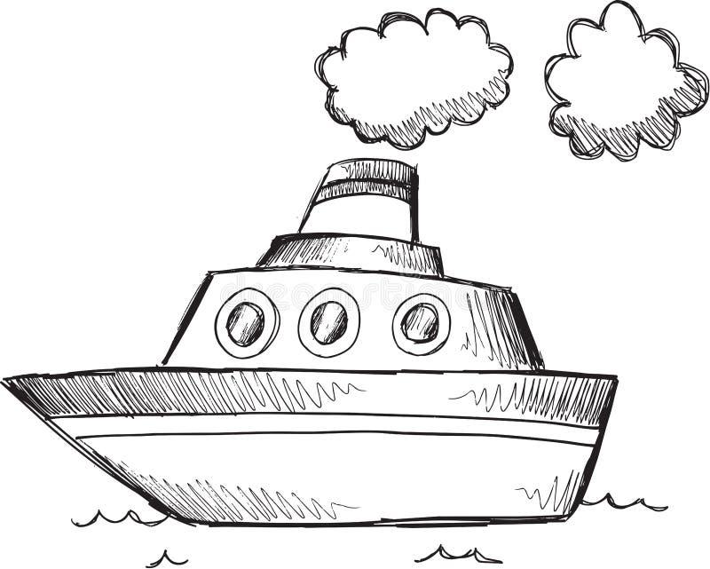 Stor fartygvektor för klotter royaltyfri illustrationer