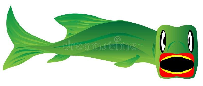 stor fisk stock illustrationer