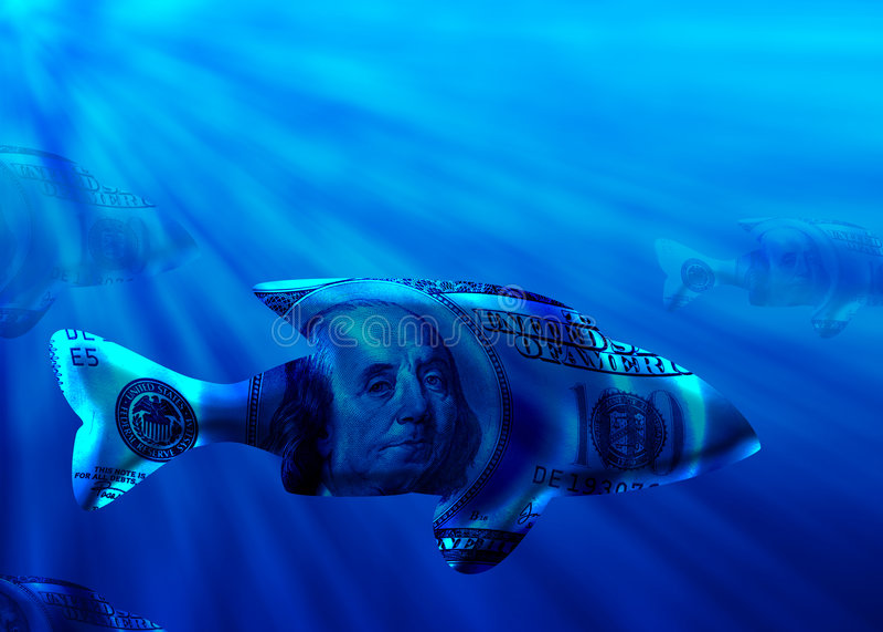 stor fisk royaltyfri illustrationer