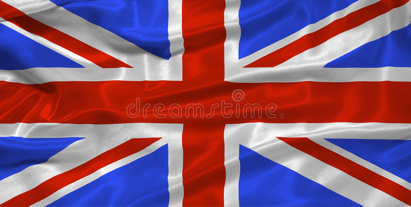 stor flagga för 3 britain stock illustrationer