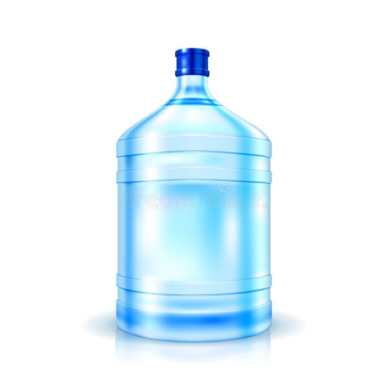 Stor flaska av vatten royaltyfri illustrationer
