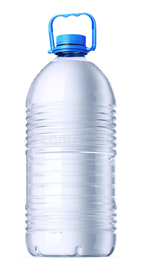 Stor gal.plast-flaska royaltyfria foton