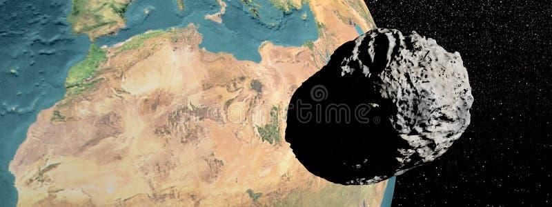 Meteorite som går till jord royaltyfri illustrationer