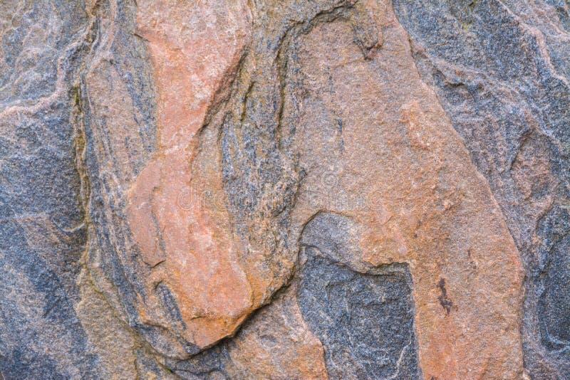 Stor granit vaggar med trevliga modeller, stor sten i parkera royaltyfri fotografi