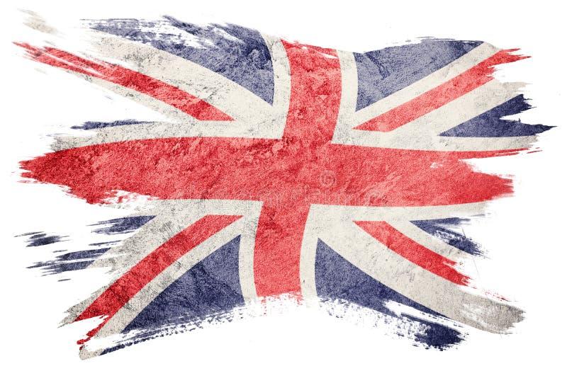 stor grunge för britain flagga Union Jack flagga med grungetextur stock illustrationer