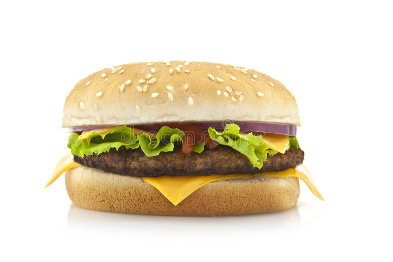 stor hamburgare royaltyfria bilder