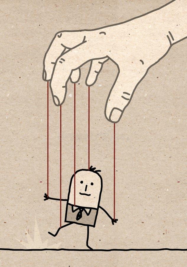 Stor hand - docka vektor illustrationer