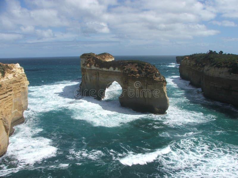 Stor havväg Australien - fjord Ard royaltyfri fotografi