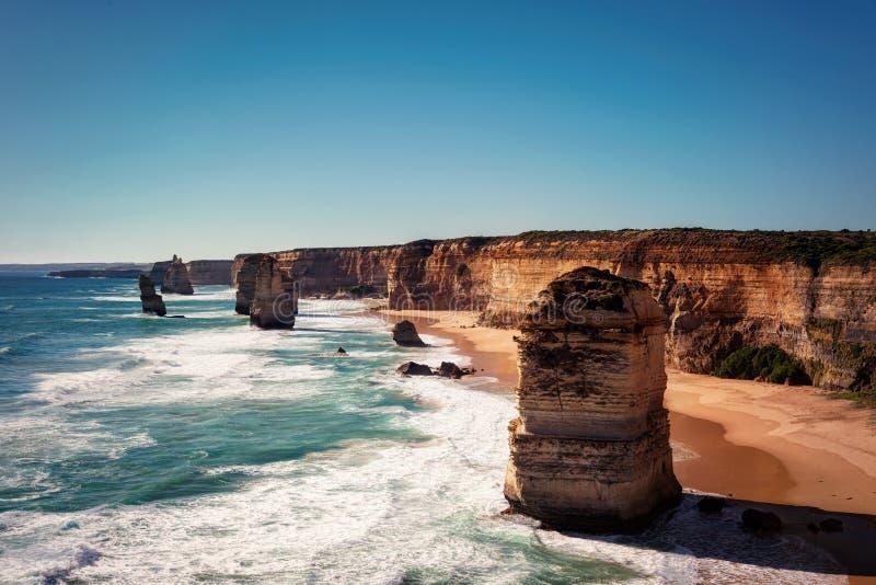 Stor havväg Victoria Australia Twelve Apostle arkivbild
