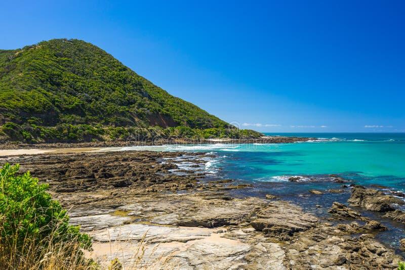 Stor havvägkustlinje i Victoria, Australien royaltyfria foton
