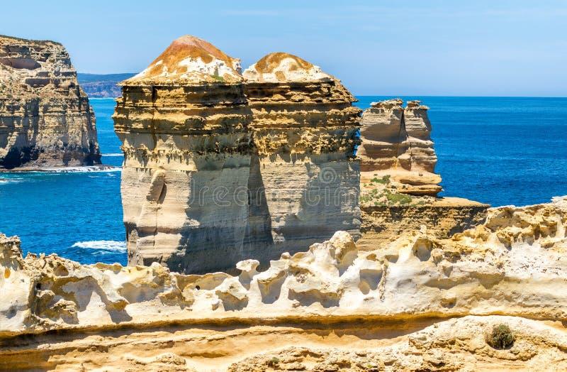 Stor havvägkustlinje i Victoria State, Australien fotografering för bildbyråer