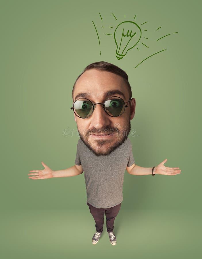 Stor head person med idékulan arkivbilder