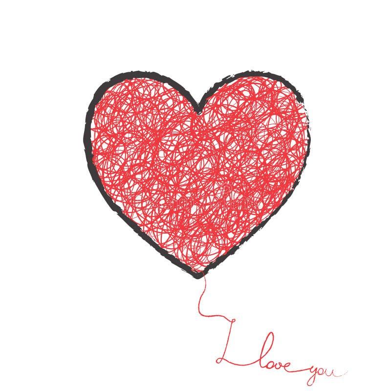 Stor hjärta stock illustrationer