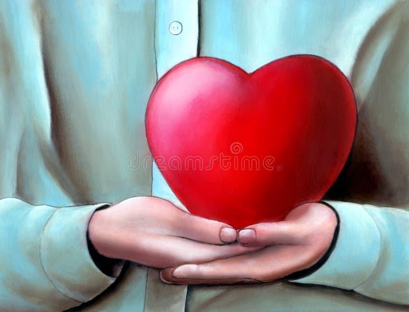 stor hjärta royaltyfri illustrationer