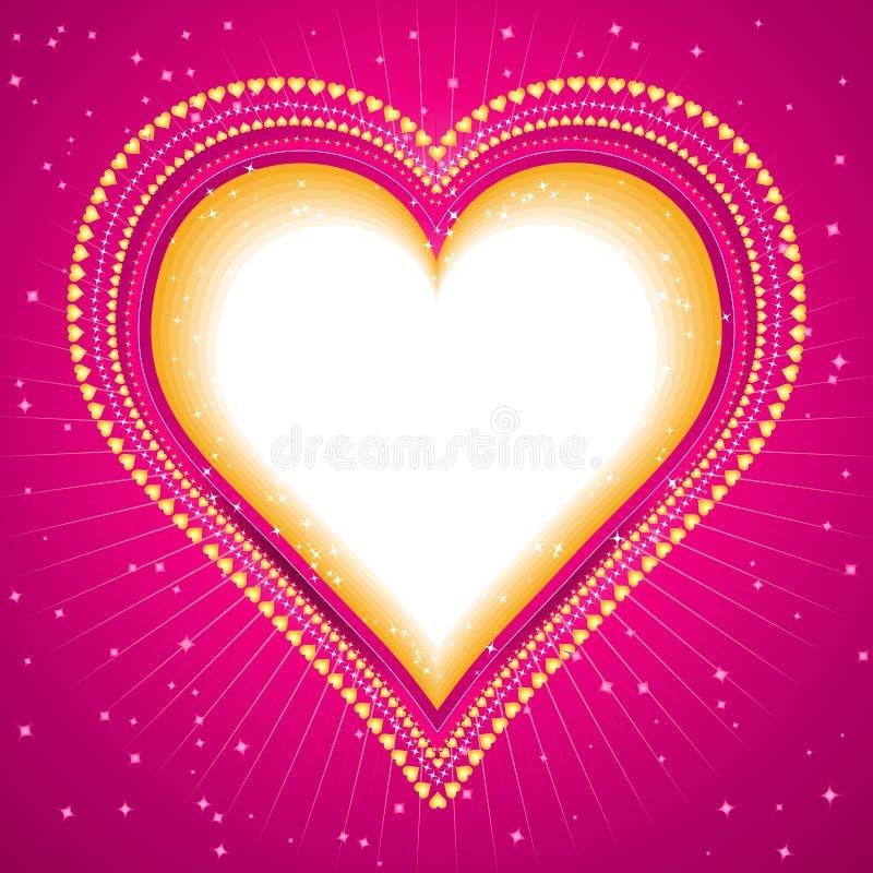 stor hjärtavektor vektor illustrationer